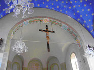 Sternendecke der Kirche der Gemeinde Galingen