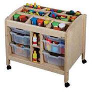 Poste atelier mobile pour activités culturelles, mobilier pour petite enfance, assistantes maternelles à acheter pas cher.