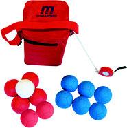 Matériel et jeu sportif de boules de boccia au meilleur prix. Ensemble de 12 boules de Boccia à acheter pas cher.