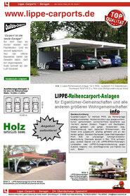 LIPPE-Reihencarport Holz