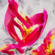 Blume, Acryl auf Leinwand, JULIA! Neulinger-Kahl