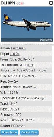 Bild: Flightradar