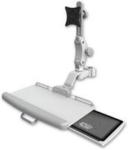 ディスプレイキーボード用アーム 支柱取付 エルゴノミクス モニターアーム, ポールマウント, 医療, 病院設備, ヘルスケア, デンタル, 歯科, UL550シリーズ, キーボードトレイ, メディカル,メディカルIT, メディカルモニター, 医療機器
