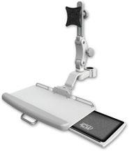 ディスプレイキーボード用アーム 支柱取付 エルゴノミクス VESAマウント モニターアーム, ポールマウント, 医療, 病院設備, ヘルスケア, デンタル, 歯科, UL550シリーズ, キーボードトレイ, メディカル,メディカルIT, メディカルモニター, 医療機器