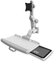 医療向け ウォールチャネルマウント ディスプレイキーボード用アーム VESA:ASUL550-W5-KUP