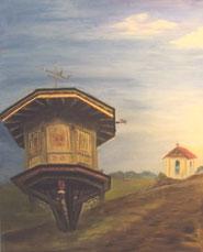 Inge Wölfinger, Taubenhaus und Kapelle, tradiert in der  bäuerlichen Kulturlandschaft