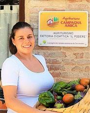 Elena Tortoioli, imprenditrice agricola e gestore agriturismo  Petrignano di Assisi- Rappresentante di Coldiretti Giovani Impresa - Diplomata a.s. 2006/07