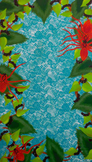 Araignées, 2014, Acrylic on canvas, 140 x 80 cm
