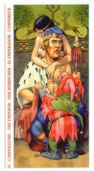 Tarot Decameron - Érotique - IV L'Empereur éd. Lo Scarabeo 2002