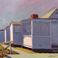Cottage at Iron Pier II, Acrylic 10x10 cyoungfineart.com