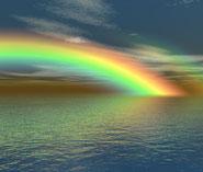 Regenbogen über dem Meer. Symbol für LSBTs in Coaching und Psychotherapie.
