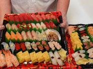 台東区に宅配したお寿司です