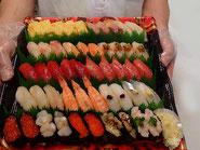 江東区に宅配したお寿司です