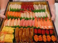 荒川区に宅配したお寿司です
