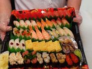 港区に宅配したお寿司です