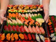新宿区に宅配したお寿司です