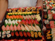 中央区に宅配したお寿司です