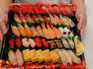 文京区に宅配したお寿司です
