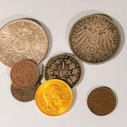 Antikhandel Schaumburg - Münzen, Kaiserreich, Gold, Silber
