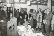 Bürgermeister Koschnick eröffnet die Galerie Fischerhude