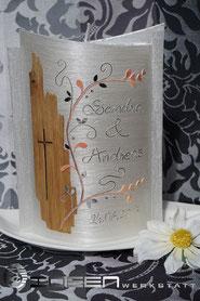 Holz Hochzeit Kerze