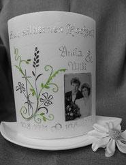 Kerze silberne Hochzeit