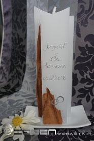 Hochzeitskerze Naturholz