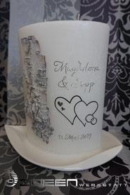 Hochzeitskerze mit Birke