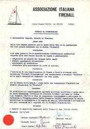 Atto costitutivo della Associazione Italiana Fireball