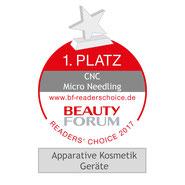 Auszeichnung mit dem 1.Platz CNC Microneedling