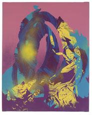 Imprint Painting #181017 , 2017, mixed technique on canvas, 50x40 cm