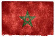 grunge textured flag of Marocco on vintage paper