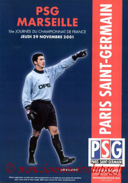 Programme  PSG-Marseille  2001-02