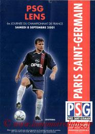 Programme  PSG-Lens  2001-02