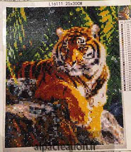 broderie diamant tigre couleur