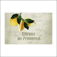 Planche à decouper Citron de Provence Verre
