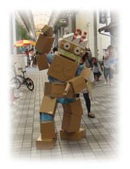 四国中央紙まつり 紙ロボ