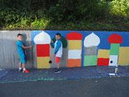 Kunstprojekt Mauer
