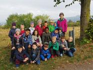 Apfelernte Klasse 2