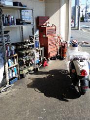 上尾サイクルオート工場画像