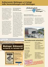 Kulturverein bringt tolle Veranstaltungen nach Wehingen