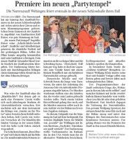 Premiere im neuen Partytempel - Schlossberghalle Wehingen