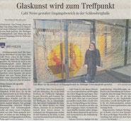 Glaskunst an der Schlossberghalle Wehingen