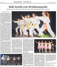 Einweihung der Schlossberghalle Wehingen