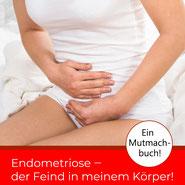 Delmenhorster Schriftstellerin Katy Buchholz / Frau sitz auf dem Bett und hat starke Unterlaibschmerzen