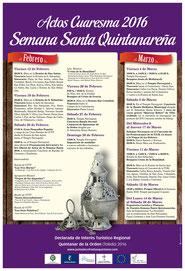 Cartel Anunciador actos de Cuaresma 2.016, (pulsar para agrandar)