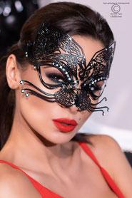Halbmaske in schwarz