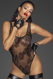 Schwarzer erotischer Body