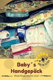Handgepäck vom Baby.