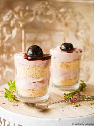 Dessert mit Amarena-Joghurt